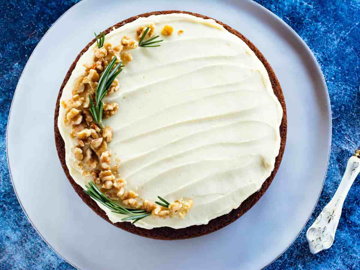 image of carrot cake with sourdough recipe