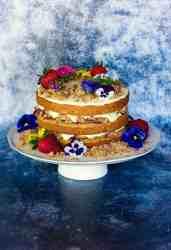 image of strawberry lemonade sourdough cake recipe