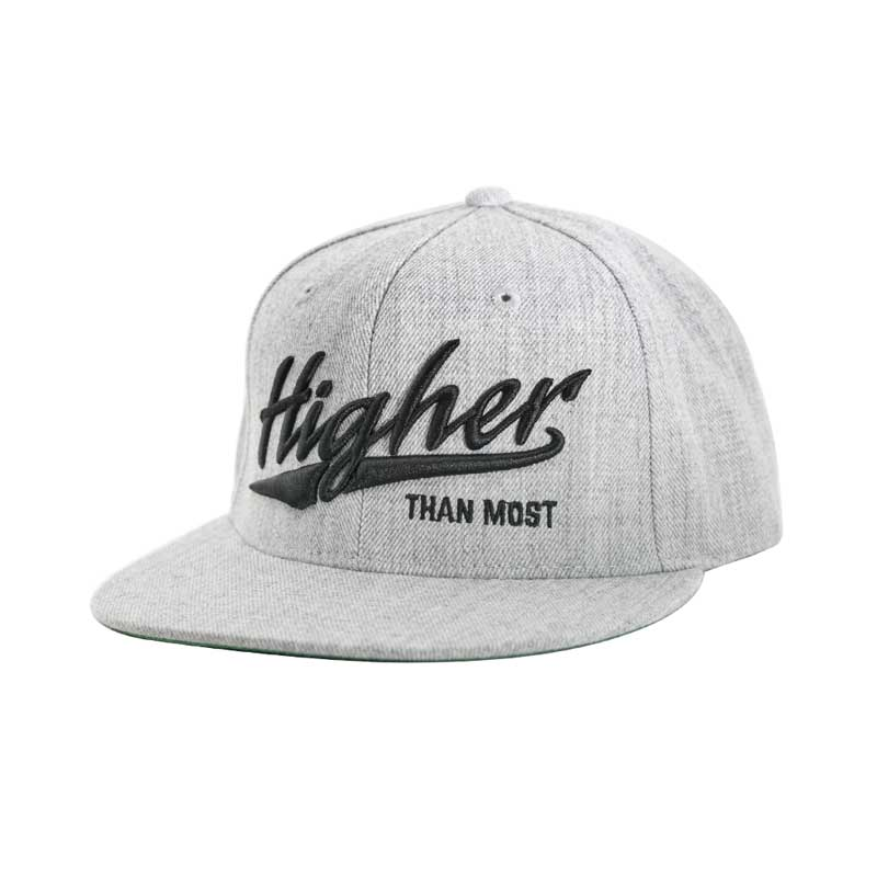 420d6933a0290 Higher Than Most Snapback Heather Gray - Higher Apparel