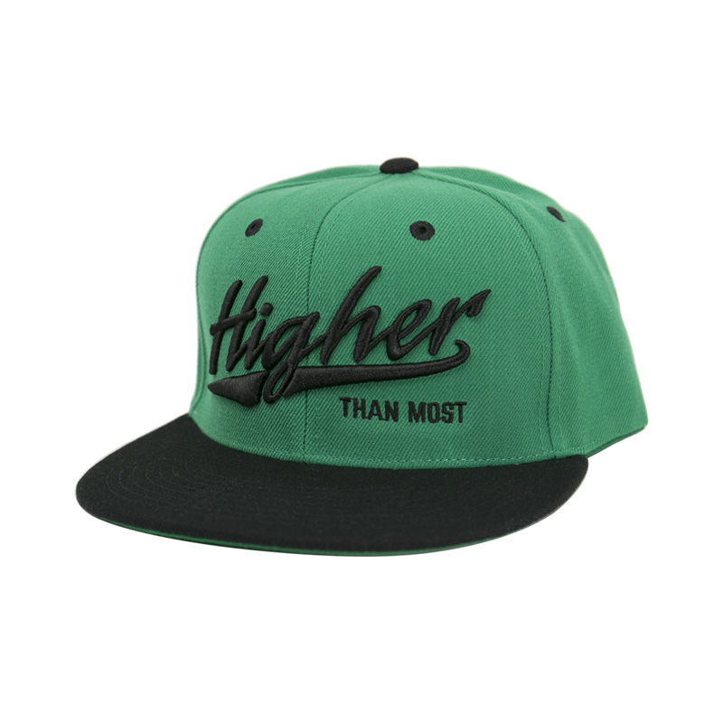 0e7baa62a4668 Higher Than Most Snapback Green Black - Higher Apparel