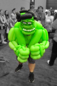 Balloon Hulk Cosplay Dallas Comic Con