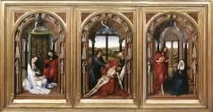 ogier van der Weyden, Miraflores Altarpiece, c. 1440, Berlin, Preußischer Kulturbesitz, Staatliche Museen zu Berlin.
