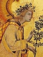 Simone Martini, Archangel Gabriel, Annunciation, 1333, Florence, Uffizi.
