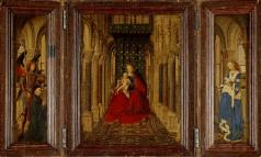 Jan van Eyck, Madonna and Child Enthroned, 1437, Dresden, Staatliche Kunstsammlung