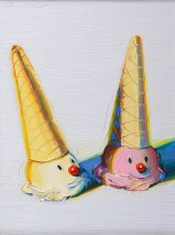 Wayne Thiebaud, Jolly Cones, 2002, Laguna, Laguna Art Museum.