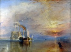 J. M. W. Turner, The Fighting 'Temeraire', Tugged to her Last Berth to be Broken Up, 1838, London, National Gallery of Art.