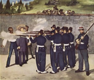 Édouard Manet, The Execution of Maximilian, 1868, Mannheim, Kunsthalle.