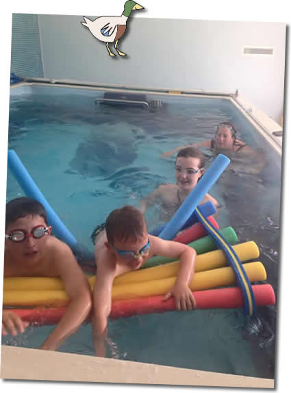 higher lank's endless indoor swimming pool