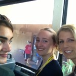 With Sarah & Ari on the bus headed to KSC