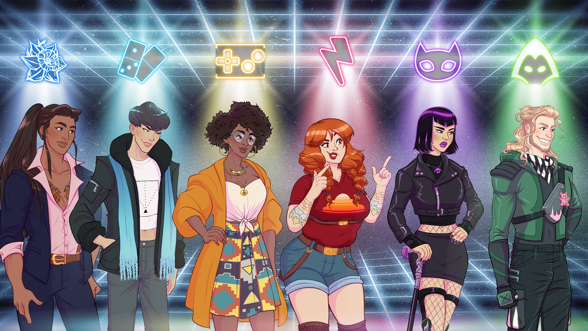 The cast of Arcade Spirits: The New Challengers