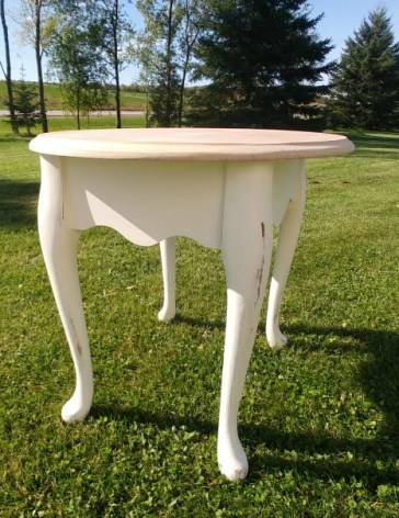 Nightstand painted and distressed