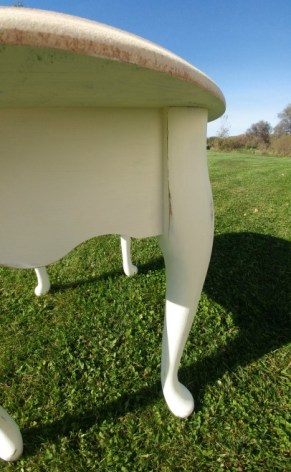 Nightstand painted with white eggshell