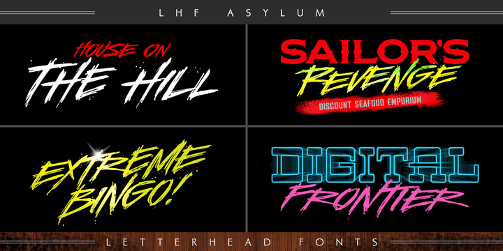 Download LHF Asylum™ Download Font - HighFonts.com