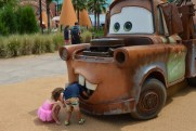 Checkin' under the hood, Mater!