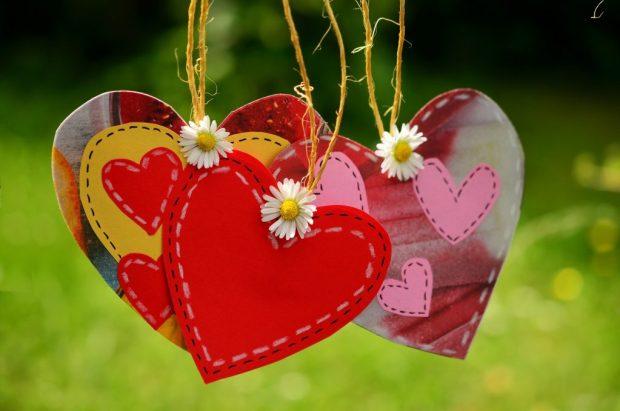 Family - three hearts