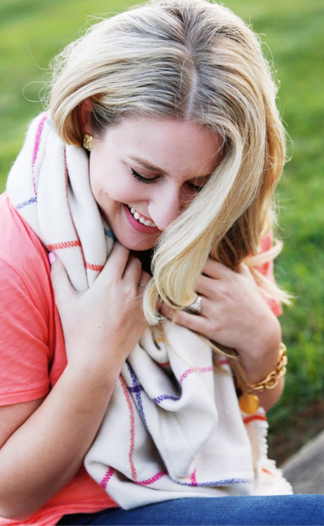 How to Style Short Sleeves With a Scarf by Julia Hartz