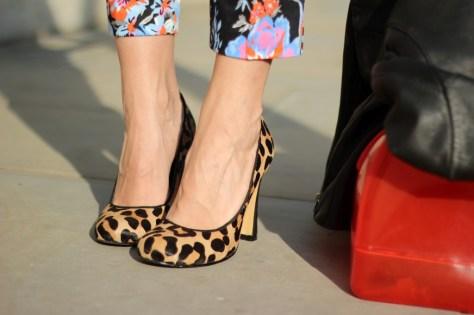 leopard high heels