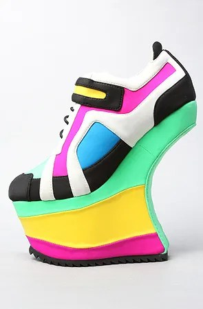 high heel sneakers
