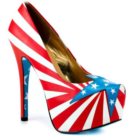 American flag heels