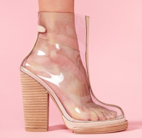 Jeffrey Campbell clear boots