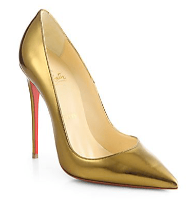 Gold Christian Louboutins