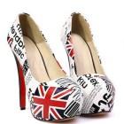 Union Jack high heels