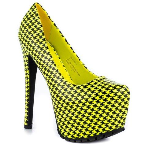 yellow neon heels