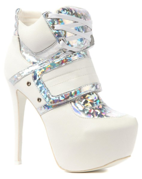 white high heel sneakers