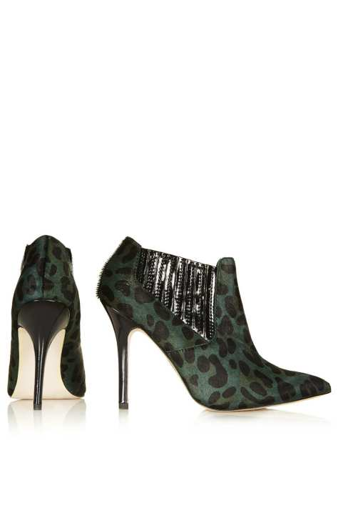 Green High Heel Shoe Boots