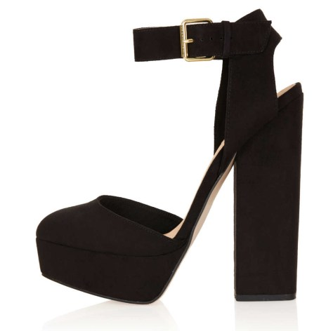 black topshop high heel platforms