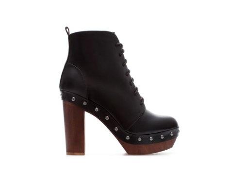 zara wooden heel boots