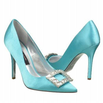 Blue pumps inspired by something blue by manolo blahnik