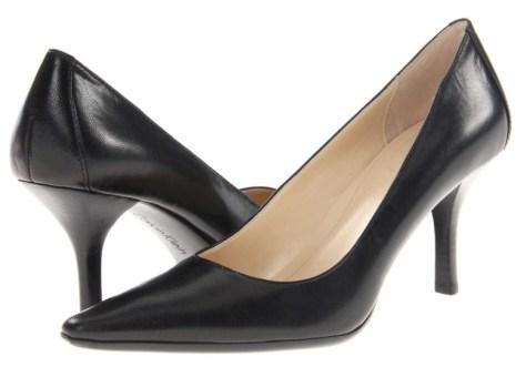 Calvin Klein black work pumps