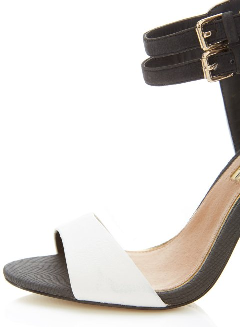 Miss Selfridge Black and White Heels
