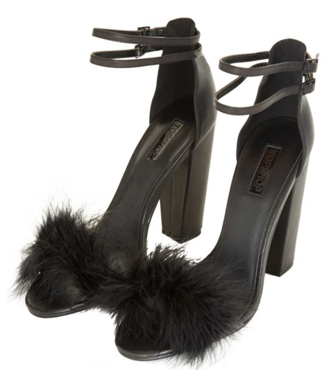 Black Feather High Heels