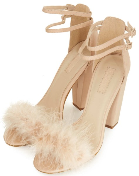 Peep Toes with Feathers