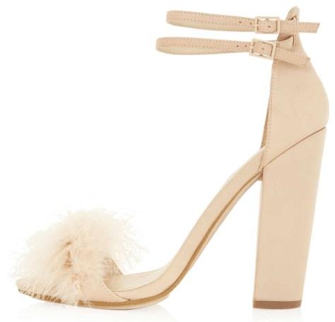Ruffle High Heels