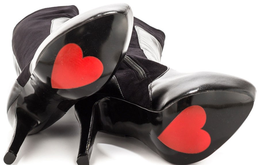 heart soled boots