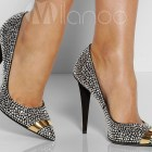 Blinged out bridal shoes
