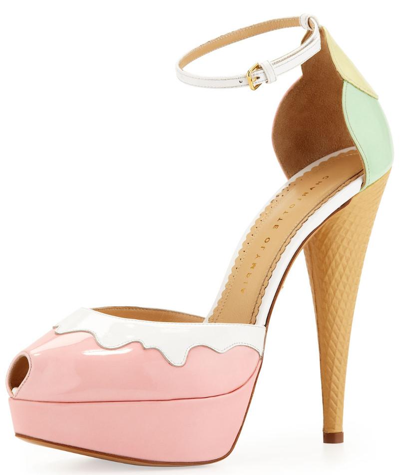Charlotte Olympia ice cream high heels