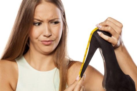 measuring high heels