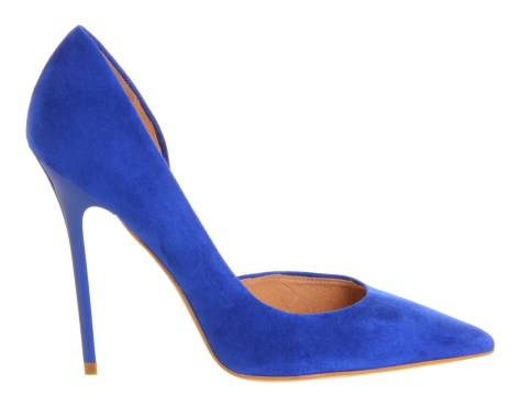 Pointy Blue Suede Shoes