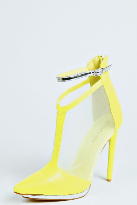 Caged High Heel Sandals