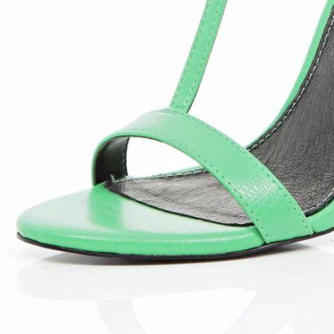 Green T Bar Sandals