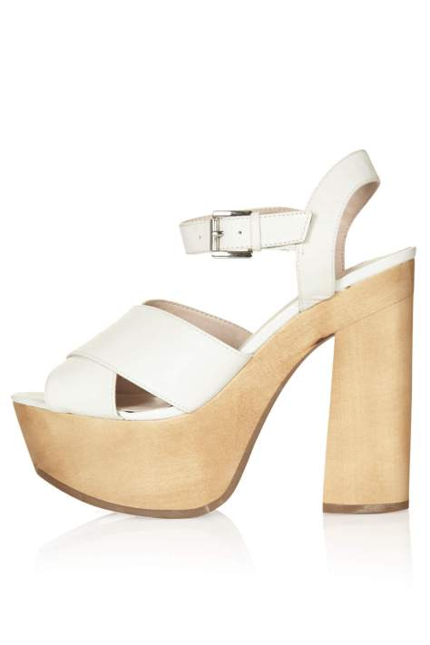 White High Heel Platforms