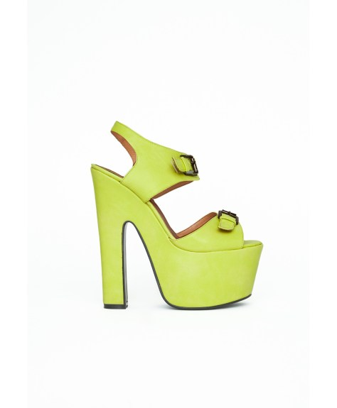 Lime Platform Shoes by Missguided