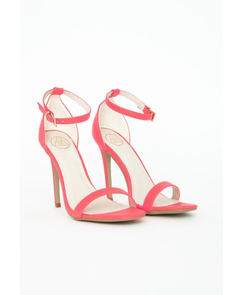 Missguided Pink Strappy Sandals