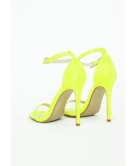 Neon Strappy Sandals in Yellow