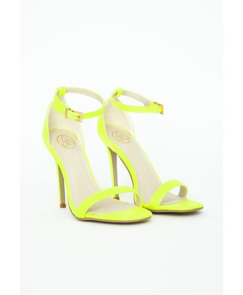 Neon Yellow High Heel Shoes
