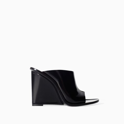 Zara Leather High Heel Wedges